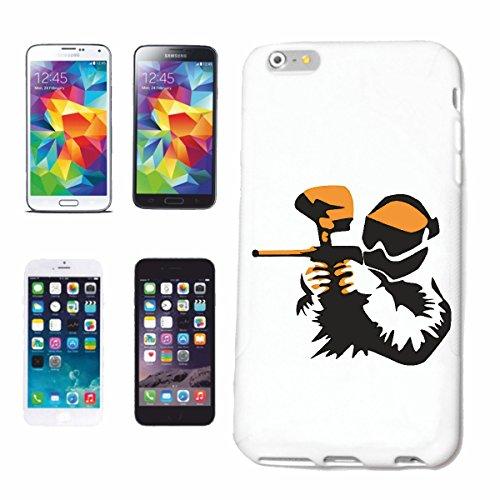 """cas de téléphone iPhone 7 """"PAINTBALL CLUB PAINTBALL CLUB ÉQUIPE BOULES COULEUR PAINTBALL GUN MARQUEUR PAINTBALL SHOP"""" Hard Case Cover Téléphone Covers Smart Cover pour Apple iPhone en blanc"""