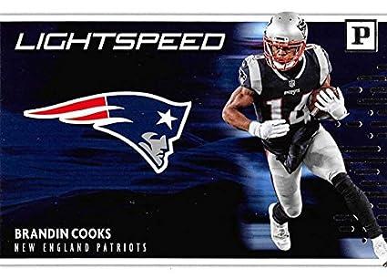 263a7c5d Amazon.com: 2018 Panini Lightspeed #8 Brandin Cooks Patriots NFL ...