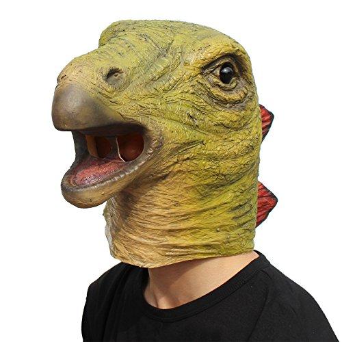 CreepyParty Halloween Costume Party Animal Latex Jurassic Head Mask Dinosaur Stegosaurus ()