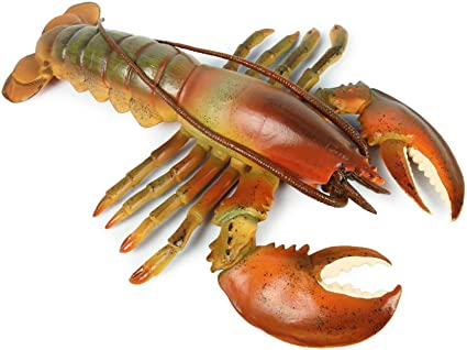 Handcraft Plastic Artificial Marine Animal Creative Toy Gift Red Lobster A