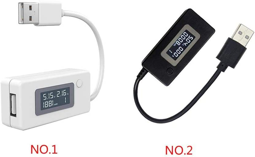 Beaums LCD USB Voltage//Amps Power Meter Tester Multimeter Detector Current Voltage Tester Test Speed of Chargers Cables Capacity of Power Banks