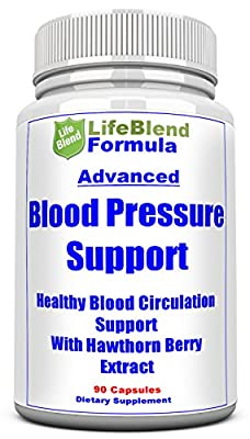 Reliable Blood Pressure Support - Natural Cardiovascular Health Aid - Assist Blood Circulation & Hypertension - with Hawthorn Berry, Garlic & Olive - 90 Capsules