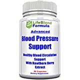 LifeBlend Blood Pressure Support – Natural Cardiovascular Health Aid – Assist Blood Circulation & Hypertension – with Hawthorn Berry, Garlic & Olive – 90 Capsules