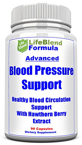 Reliable Blood Pressure Support – Natural Cardiovascular Health Aid – Assist Blood Circulation & Hypertension – with Hawthorn Berry, Garlic & Olive – 90 Capsules