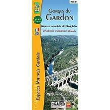 Gorges du Gardon, réserve mondiale de biosphère, sentier de l'Aqueduc romain : 1/30 000