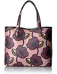 Passion Flower Print Textured Vinyl Tillie Bag