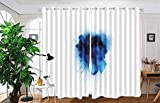 vanfan 2 Panel Set Digital Printed Blackout Window Curtains for Bedroom Living Room Dining Room Kids Youth Room Window Drapes(W84 x L63, Blue explosionsolated on white ba) Review