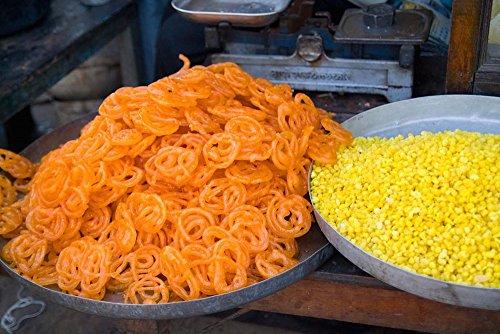 Market Food in Shahpura, Rajasthan, Near Jodhpur, India Bill Bachmann/Danita Delimont Art Print, 33 x 22 inches