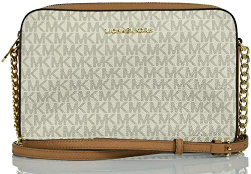 Michael Kors Women's Jet Set Item Crossbody Bag No Size (Vanilla Acorn) (Michael Kors Flache)