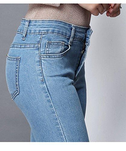 Classici Jeans Skinny Blue Svasati Elefante Llight Donna Frange Zampa A Oudan Pantaloni 1nw8Adq7dx