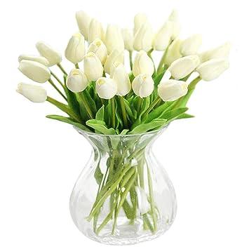vase fur tulpen jyohey unechte blumen knstlicher blumenstrau tulpen knstliche deko blumen real. Black Bedroom Furniture Sets. Home Design Ideas