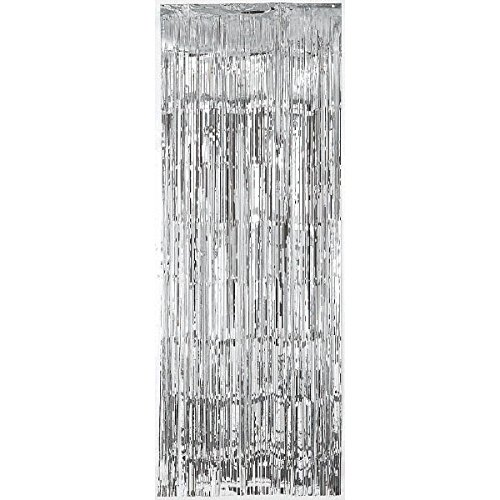 Amscan Silver Metallic Fringed Table Skirt | Party Decor | 6 Ct. -