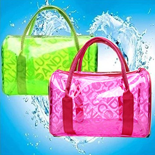 Jelly Transparent clair Format Fourre de tout Femmes main bandouli¨¨re ¨¤ Sac Sac plage Dot Grand Pt3 ¨¤ PVC Natation Sac Imperm¨¦able Abuyall aIYwqg0AA