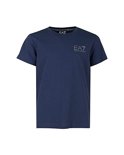 0148722a Emporio Armani Junior Boys Ea7 Core Id Ss T-Shirt in Navy- Short Sleeve-  Ribbed: Emporio Armani EA7: Amazon.co.uk: Clothing