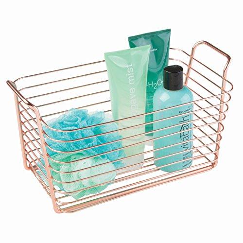 InterDesign Classico Kitchen Pantry Bath Organizer Wire Basket, Medium, Copper