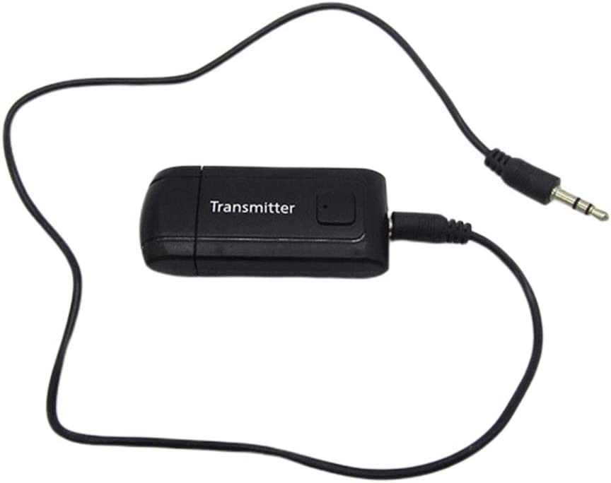 Chenggong Chg Inalámbrico Bluetooth 4.2 Transmisor 3.5MM Adaptador estéreo AUX USB Dongle Receptor para TV PC Computadora Auriculares Accesorios