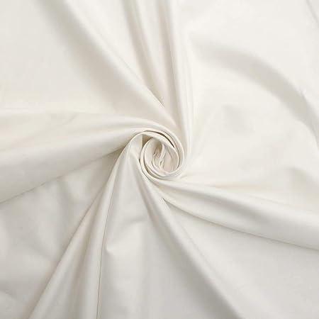 Liso 100% Algodón Tela Tejida 150cm ancho por metro - Blanco: Amazon.es: Hogar