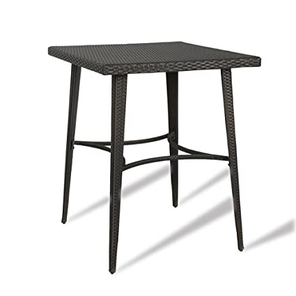 dfecd03ccf56 Amazon.com : Ulax Furniture Outdoor Patio Wicker Bar High Table Counter  Height Table (Bar Table) : Garden & Outdoor