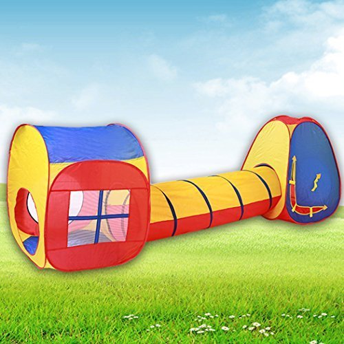 Wakrays Fashion Kids Baby Indoor Outdoor Tunnel Tents Play Cubby House Set Pop Up Tent Toy Hut