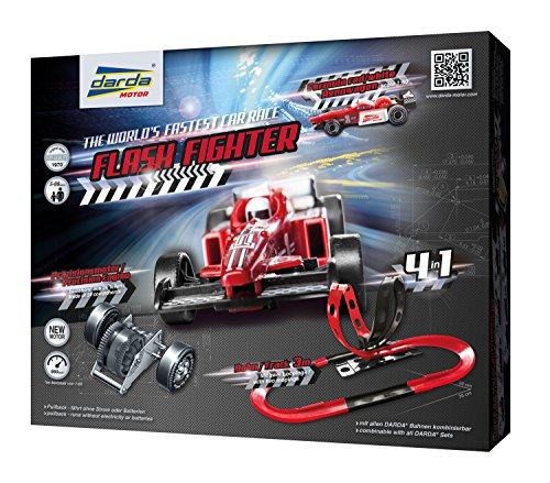 KSM Toys Darda Flash Fighter Race Track Set with Formula One Toy Car for Ages 5+ ()