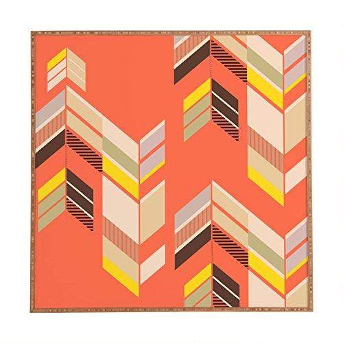 Deny Designs Gabi,  Chevron Coral, Framed Wall Art, Large, 30'' x 30'' by Deny Designs