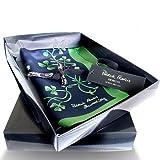 Silk Irish Shamrock Sprig Scarf Navy & Green by Patrick Francis