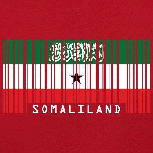 Somaliland / Republik Somaliland Barcode Flagge - Herren T-Shirt - Rot - S