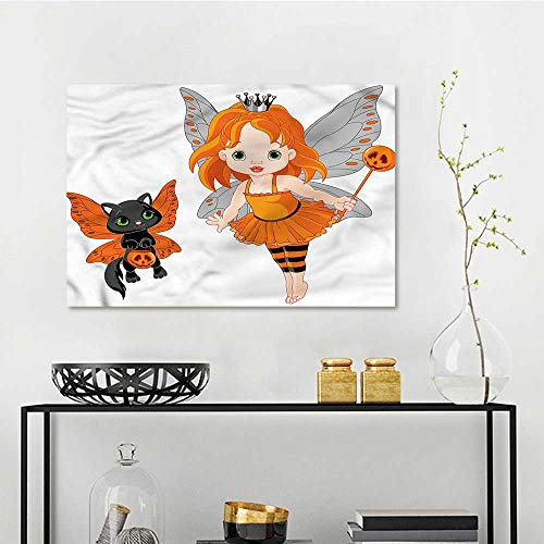 one1love Halloween Printing Oil Painting Baby Fairy and