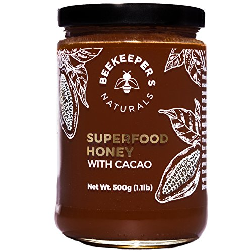 Superfood Cacao Honey by Beekeeper's Naturals | 500g of 100% Raw, Sustainably Sourced Enzymatic Honey | Raw Ecuadorian Cacao | Gluten Free & Nut Free by Beekeeper's Naturals