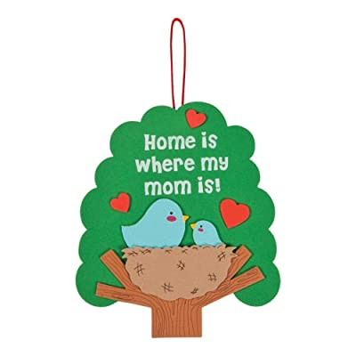 Home Is Where My Mom Is Sign Craft Kit -12 - Crafts for Kids and Fun Home Activities: Toys & Games
