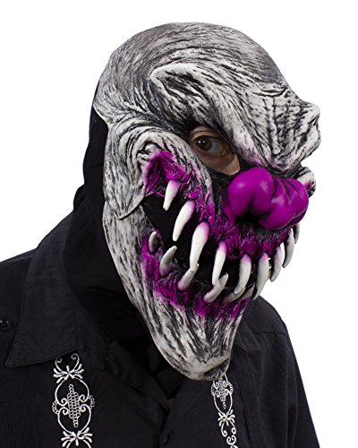 Zagone Studios UV Black Light Reactive Last Laugh Evil Clown Mask ()