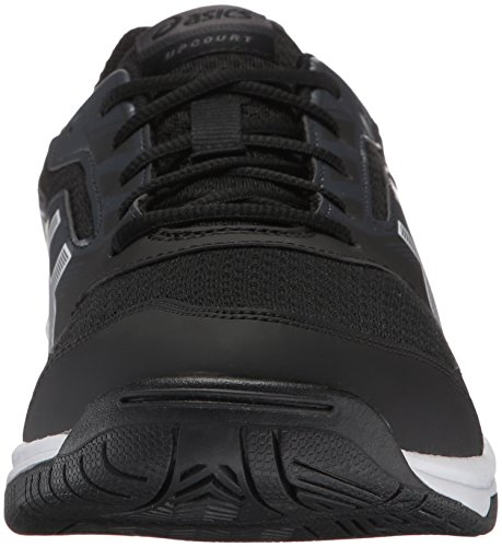 ASICS Mens Upcourt 2 Volleyball Shoe, Black/White/Phantom, 10 Medium US