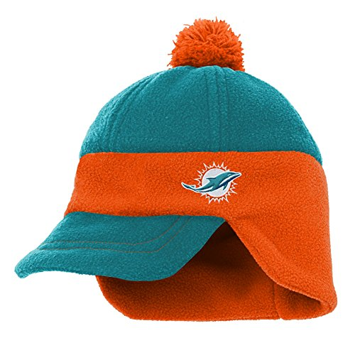 Outerstuff NFL Miami Dolphins Kids Lil' Cadet Fleece Hat Aqua, Kids One Size