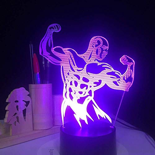 OVIIVO Creative Table Lamp Desk Lamp Touch Switch Fit Strong Man 3D Night Light RGB Changeable Mood Lamp Led Light USB 3D Lamp Using for Reading, Working by OVIIVO (Image #7)