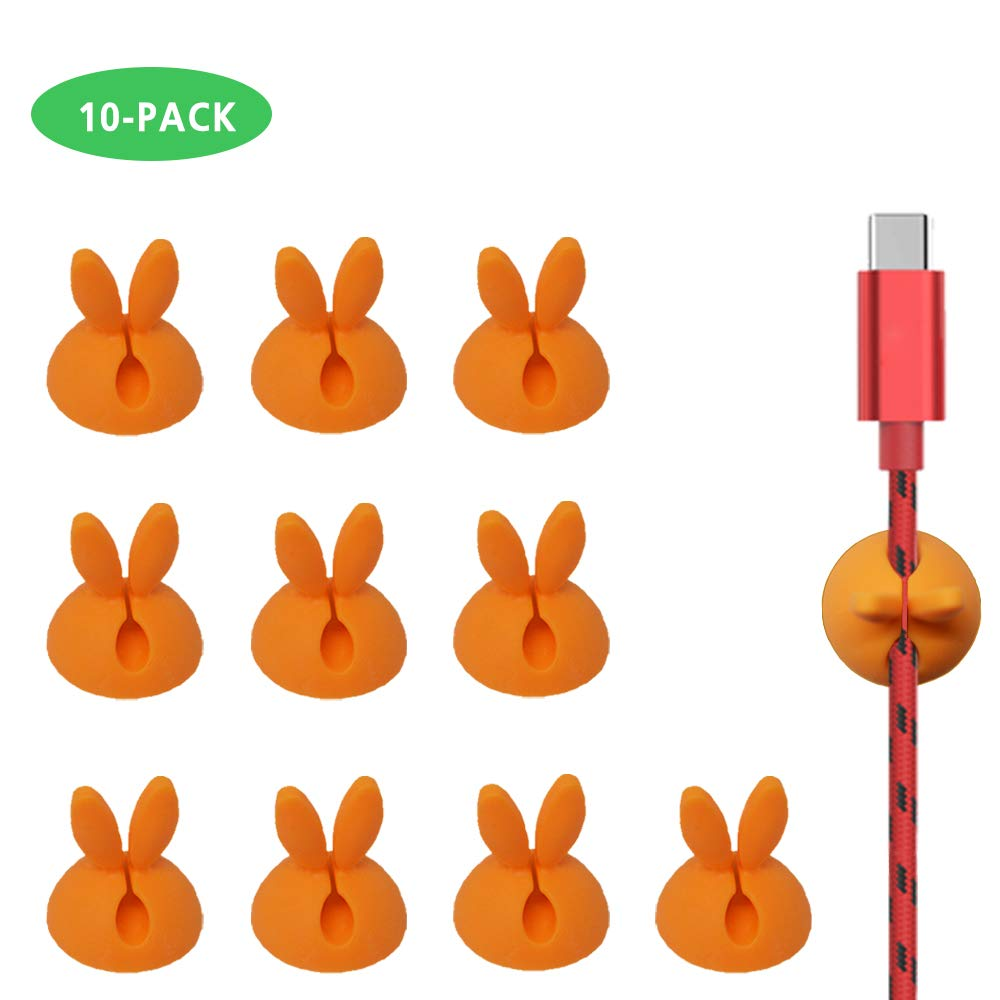 Pack of 24 Floor Wall Lecone Long lasting Stick-on Charging Cable Organizer Cord Keeper Holder for Car Cable Clips All Surface Desk