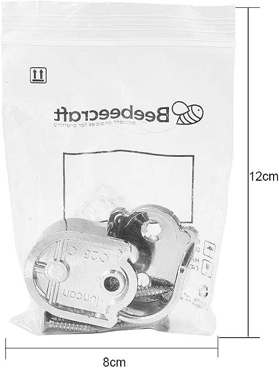 Argento JOYKK 2 Pezzi Accessori per Guardaroba Supporto per Tubi Armadio Supporto Asta per Asta Supporto per laddensamento della Staffa