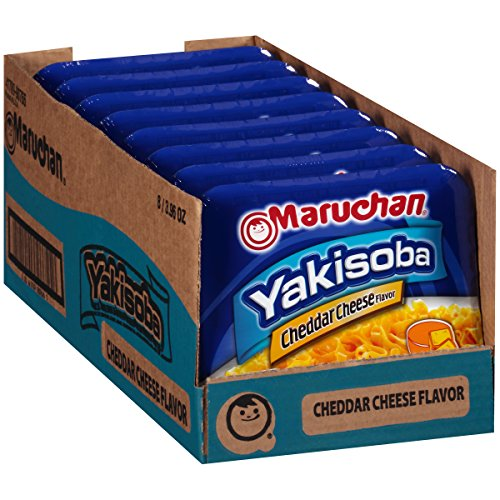Real Cheese Cheddar (Maruchan Yakisoba Cheddar, 3.96 Oz, Pack of 8)