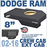 Dodge Ram Quad Crew Cab Truck 8 Sub Box Subwoofer Enclosure Ground-Shaker