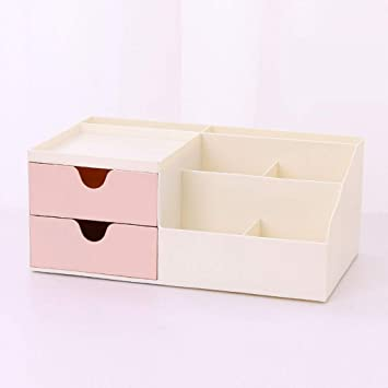 Amazon Com Desk Organizer Sliding Drawer Office Storage Pen Holder Compartments Tray Plastic For Pen Stationery Accessories Pink Double Grid Office Products