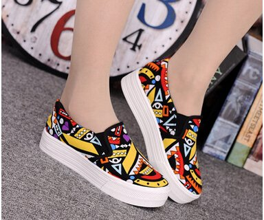 Brighty-U Durable Fashion Women Canvas Shoes Summer Colorful Women Shoes Flats Breathable Casual Shoes