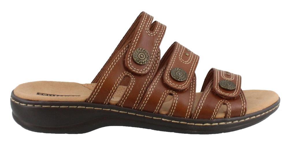 CLARKS Women's, Leisa Lakia Slide on Sandals Dark TAN 10 W