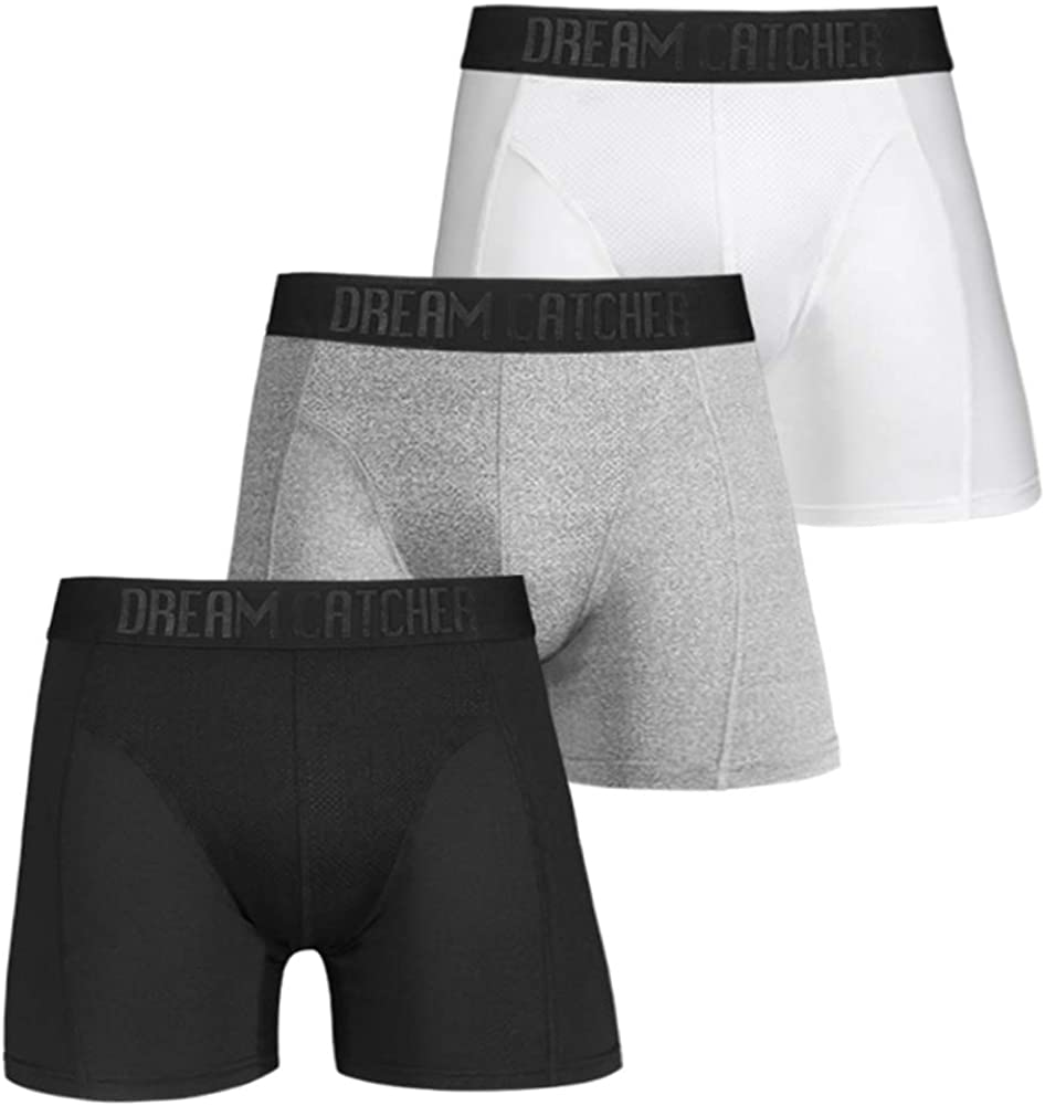 ASTEORRA Mens Boxers Multi Pack Underwear for Men Performance Mens Boxer Shorts Athletic Pouch Underwear