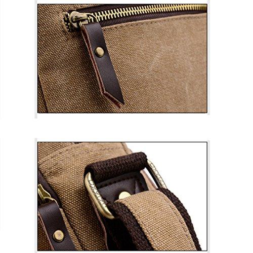 Canvas Bag Backpack Laidaye purpose Shoulder Brown Skewed Leisure Men Multi Travel Business Uxwp5TZ