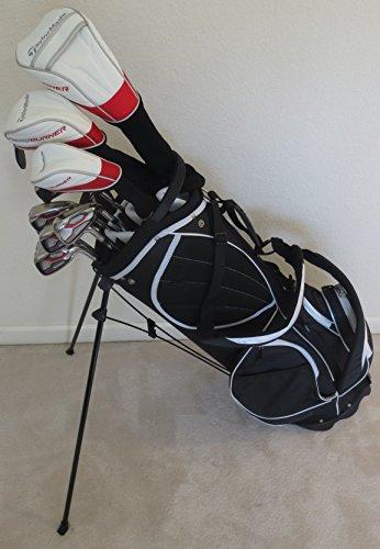 メンズテーラーメイドゴルフドライバ設定 フェアウェイウッド ハイブリッド アイアン パター バッグTaylor MadeクラブRH Regular Flex
