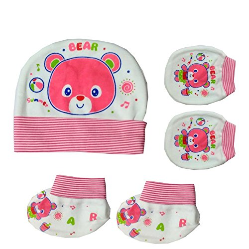 Baby Basics - Cap Mitten Booties - Pink  Amazon.in  Clothing   Accessories 771cb291a61