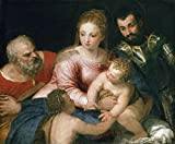 Cutler Miles The Holy Family With The Young Saint John The Baptist And Saint George by Paolo Veronese Hand Painted Oil on Canvas Reproduction Wall Art. 30x24