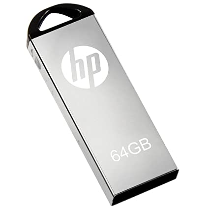 Image result for HP USB 2.0 Flash Drive 32GB V220W 32 GB Pen Drive  (Silver)