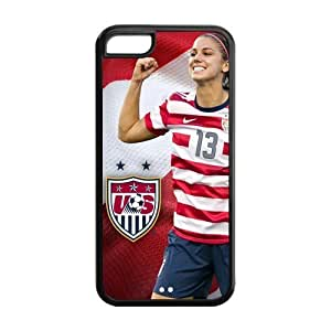 DIY US Soccer Custom Case Shell Cover for iPhone 5c TPU (Laser Technology)