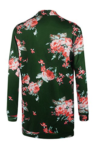 ECOWISH Womens Kimono Cardigans Floral Chiffon Blouse Boho Irregular Wrap Kimono Cardigans Casual Coverup Tops S-3XL
