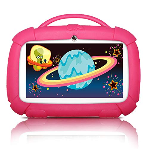 Kids Tablets, Android Tablet for Kids, 16GB ROM, IPS Eye Protection Display, Kids Tablet with WiFi Dual Camera Parental…